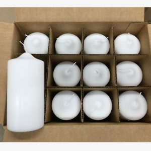 """Candle Event White 2.8"""" X 6"""""""