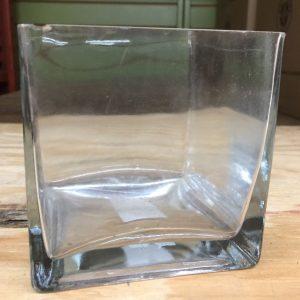 "Cube 4"" CLR Glass"