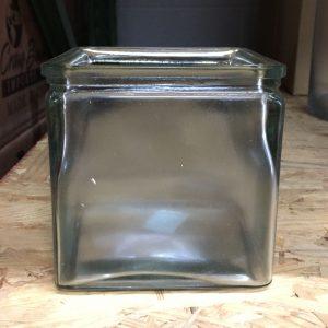 "Cube Pressed Glass 5"" x 5"""