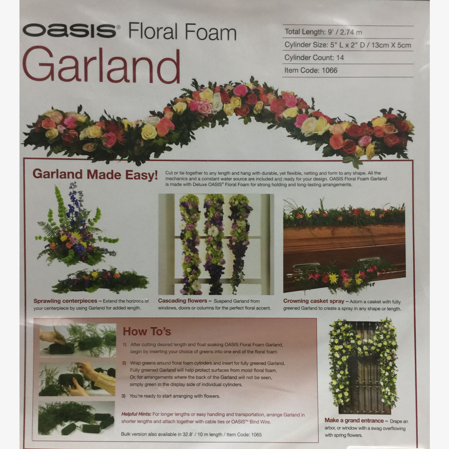 Oasis Garland Netted 9ft | Ensign Wholesale Floral