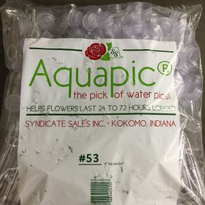 "Water Tube 4"" Clear 100/pk"